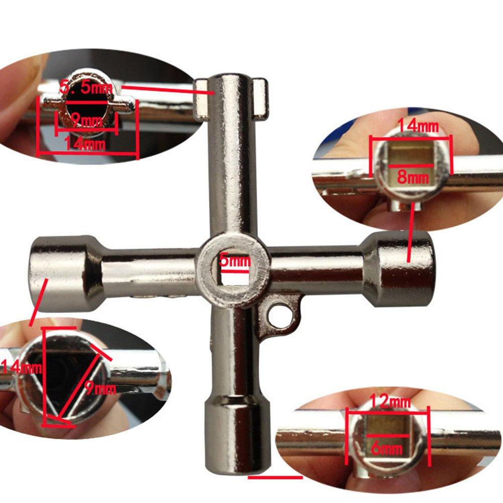 Placard /électrique /à gaz Starmood Cl/é crois/ée Multifonction 4 Voies pour radiateurs Compteur de radiateurs