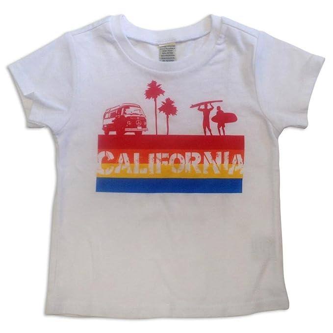 Amazon.com: Sol Bebé California 4 Color de Rayas Blanco Tee ...