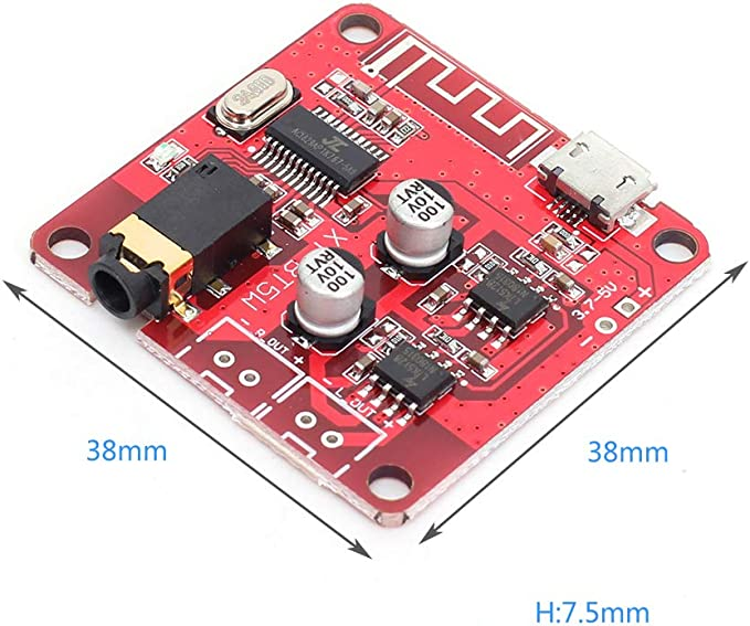Amazon Com Onyehn Receptor De Audio Bluetooth 4 2 Mp3 Sin Pérdida Decodificador Inalámbrico Estéreo De Música Para La Modificación De Audio 5 W 5 W Amplificador De Altavoz De Coche Home Audio Theater