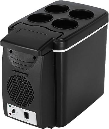 AUTOINBOX - Nevera portátil para coche, para frío y calor, eléctrica, 12 V, 6 L, color negro