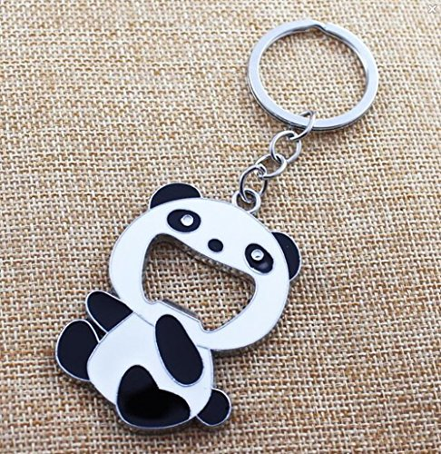 Chinese Panda keychains Creative Novelty Gifts Panda Metal Hanging Key Ring Key Chain Keyfob