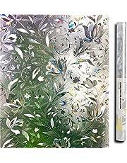 Lemon Cloud 3D Sichtschutz Folie Fenster fensterfolie Muster für Badezimmer Dekoration und Schutz der privatsphäre (tulpe)