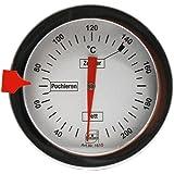 Lantelme 1984 Thermomètre de cuisson en acier inoxydable pour sucre, graisse, huile, etc. - Longueur 30cm - Bimétallique et analogique
