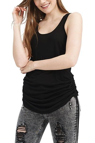 trueprodigy Casual Mujer Marca Camiseta Basico Ropa Retro Vintage Rock Vestir Moda Cuello Redondo Sin Manga Slim Fit Designer Cool Urban Fashion Top Blusa ...