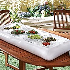PARTY DELIGHTThis is such a NO-BRAINER for a great and fancy party! Definitely float it on the pool if you are throwing out a pool party. By just filling ice into it, it can keep food and drinks and fresh and chilled for hours. An excellent addition ...