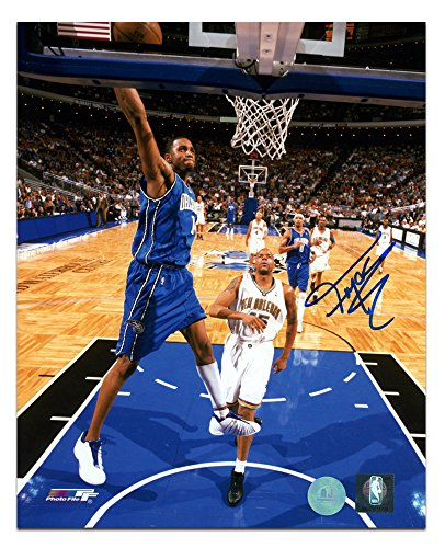Autographed Magic - AJ Sports World Tracy McGrady Orlando Magic Autographed Slam Dunk 8x10 Photo