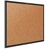 Quartet Corkboard, Framed Bulletin Board, 5' x 3', Cork Board, Black Frame (2305B)