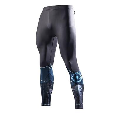 7f33db9cf4b98c FRINGOO® Mens Compression Superhero Tights Base Layer Leggings Gym Long  Running Thermal Workout (Small