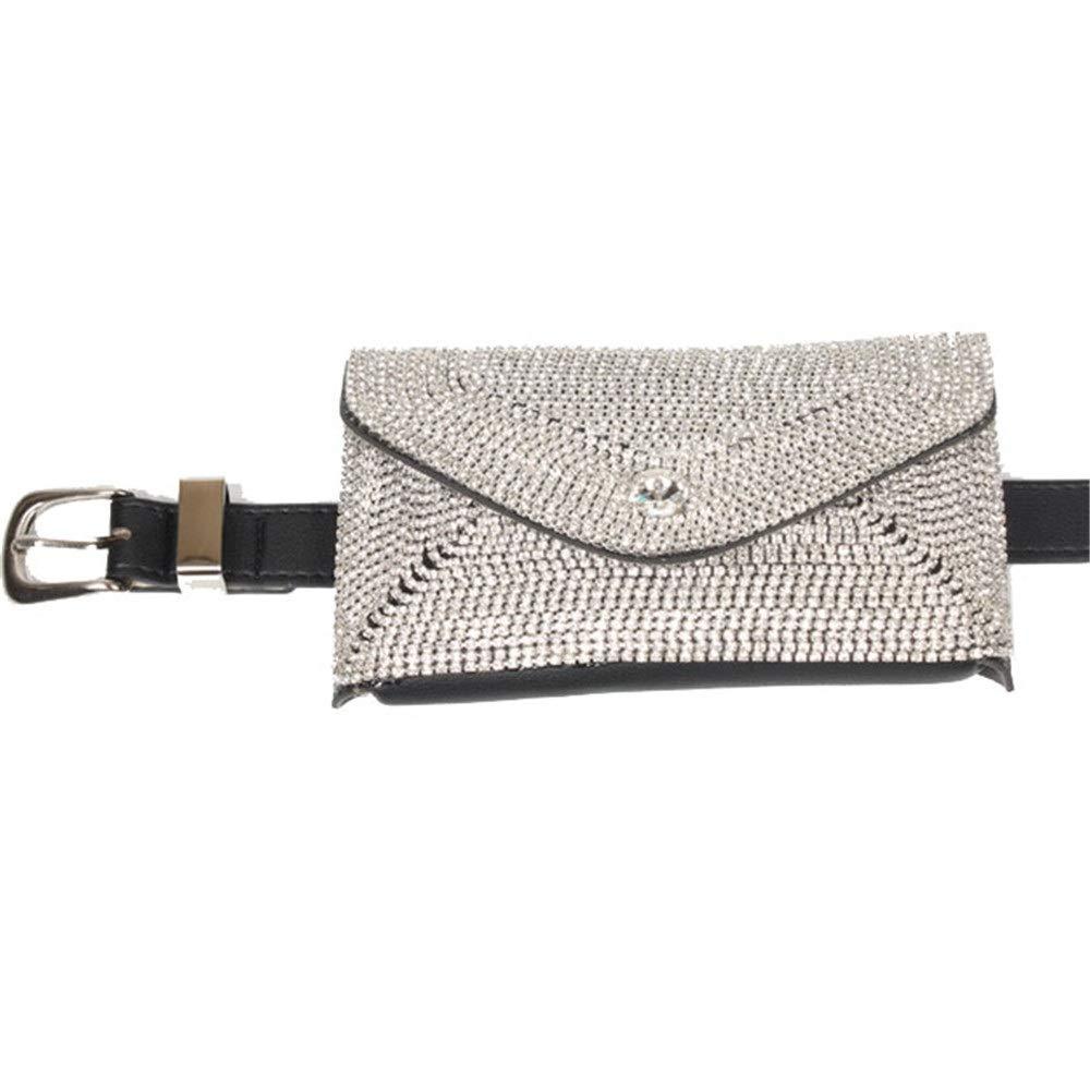 Techecho Hip Belt Bags Leather Belt Bag Women Waist Bum Bags with Shoulder Strap Multifunctional Lightweight Zipper Fanny Pack Cross Body Shoulder Travel Outdoor Sport Bling Men /& Women Slim