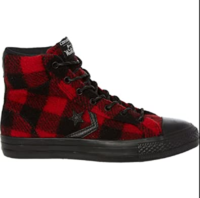 2fb1b228d418 Converse Woolrich Star Player Hi-Top Ankle Boots Red Black Check UK 7.5 EUR  41  Amazon.co.uk  Shoes   Bags