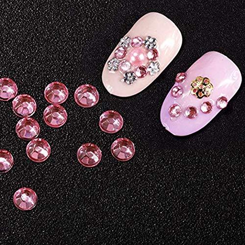 Homgaty - Juego de 5 cajas de diamantes de imitación para decoración de uñas y manualidades con pinza y bolígrafo de punto.: Amazon.es: Belleza