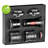 Token 2019 Threaded-Press Fit Bottom Bracket for BB86/BB89.5/BB92/BB30/PF30 Frame to Shimano 24mm Crank for MTB/Road Bike, Ninja 5in1 BB (Including Tools)