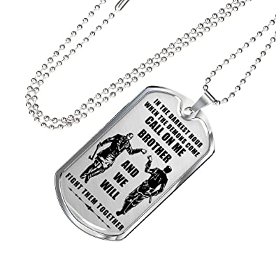 AZ Gifts Big Brother Viking Warrior Dog Tag Chain