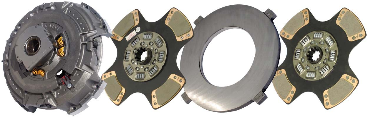 IATCO 107091-81-IAT 15-1/2'' x 2'' Angle Spring Clutch (Two-Plate, 4-Paddle / 8-Spring, 3600 Plate Load / 1450 Torque)