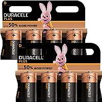 DURACELL Duracell Mn1300 Plus Power Alkaline D Size Batteries (Pack of 8)
