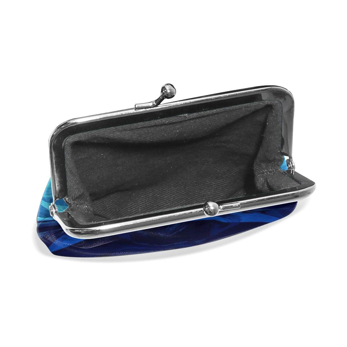 TYDhey Blue Ice World Classic Buckle Coin Purses Leather Kiss-Lock Change Wallets