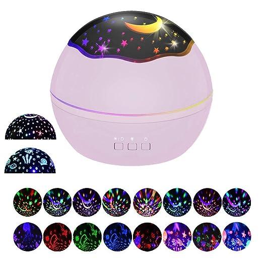 Proyector Estrellas Regalo, Star Light Proyector LED y 360 ...