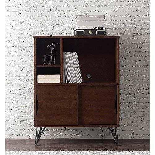 ModHaus Living Mid Century Modern Wooden Bookshelf Media Console Cabinet with Hairpin Legs - Includes Pen by ModHaus Living (Image #2)