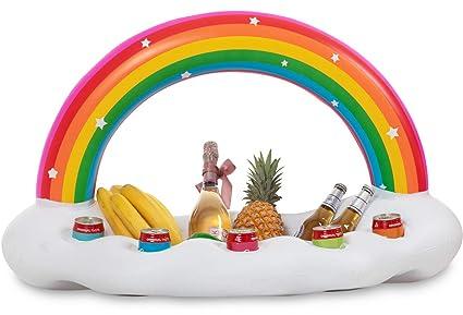 Amazon.com: Vickea Flotador inflable para piscina, Arcoiris ...