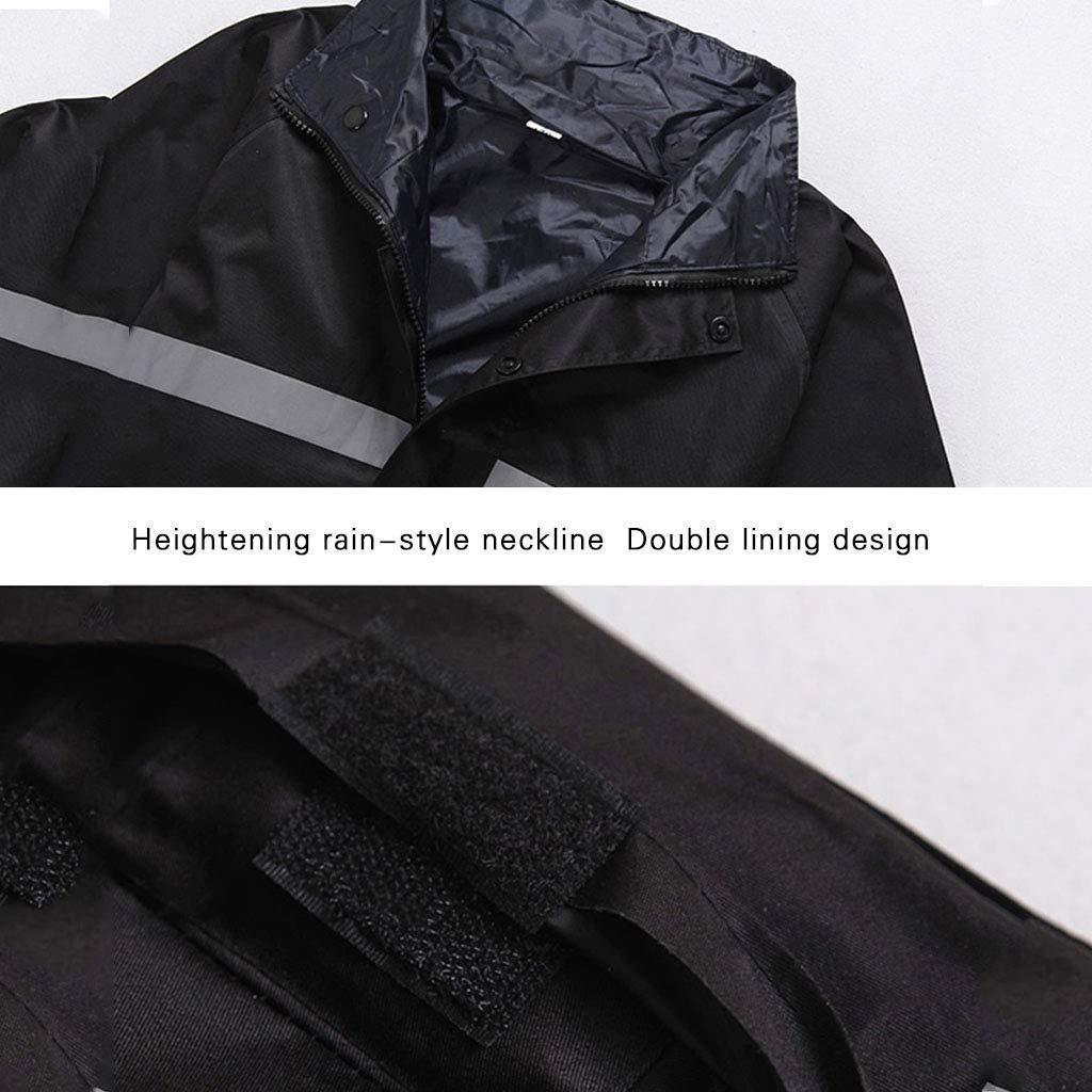 LYP-Rainwear Ingranaggio Antipioggia Portatile Impermeabile Uomini e Donne Lungo Adulto Impermeabile Monopezzo Impermeabile da Equitazione Impermeabile da Esterno per Escursioni a Piedi in Bicicletta