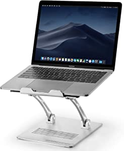 Laptop Stand, ZOMCHAIN Heavy Duty Laptop Holder, Multi-Angle Stand with Heat-Vent to Elevate Laptop, Adjustable Notebook Stand for Laptop up to 17 inches, Compatible for MacBook Pro/Air