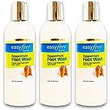 Easy Feet Spa Peppermint Foot Wash 16 Oz. Bottle (3 Pack Bundle)