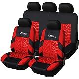 AUTOYOUTH Capas de assento de carro ajuste universal conjunto completo protetores de assento de carro trilhos de pneu acessór