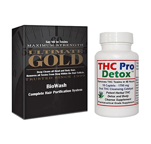 Bundle - THC Pro Detox 48 Hours to Cleanse plus Ultimate Gold Detox Shampoo