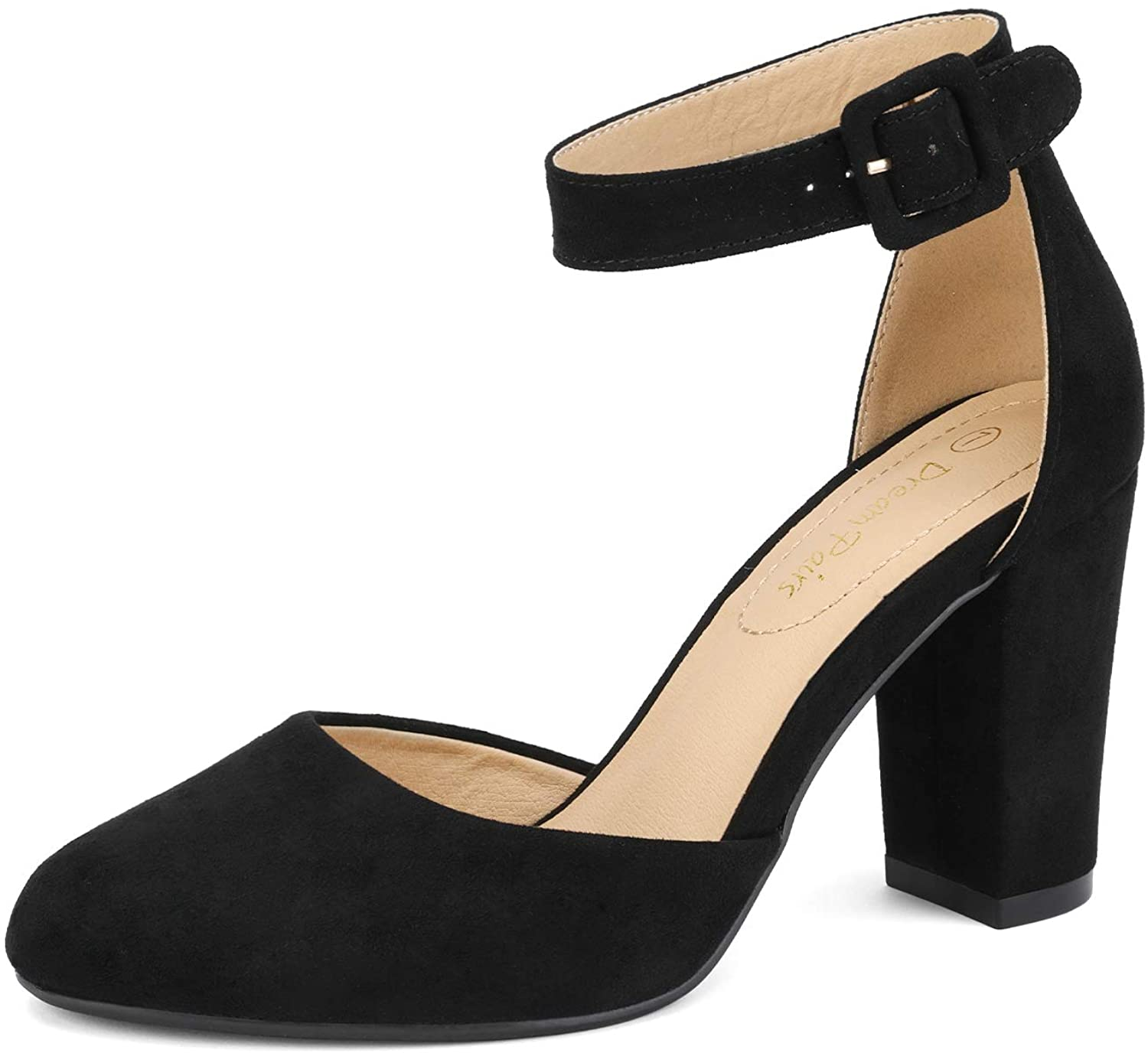 DREAM PAIRS Women's High Super sale period limited Time sale Heel Closed Sh Toe Chunky Pumps Wedding