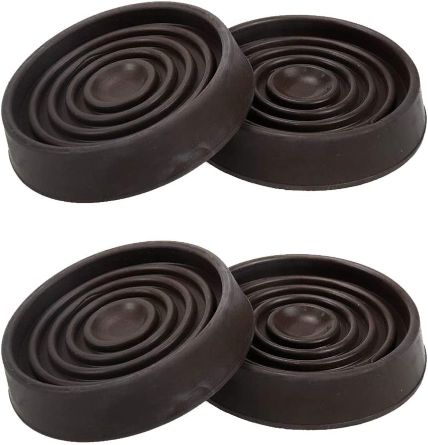 "Karcy Caster Cups for Furniture 1.-3/4"" Dia. Caster Cups Brown Round Rubber Pack of 4"