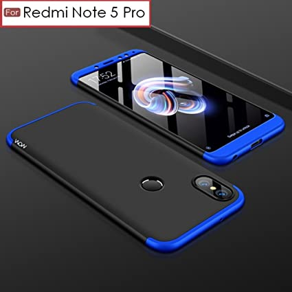 check out ec810 c1e6f WOW Imagine 3 in 1 Double Dip Case Anti Slip Super Slim Hybrid PC All Angle  Protection Lightweight Matte Hard Back Cover for Xiaomi Mi Redmi Note 5 ...