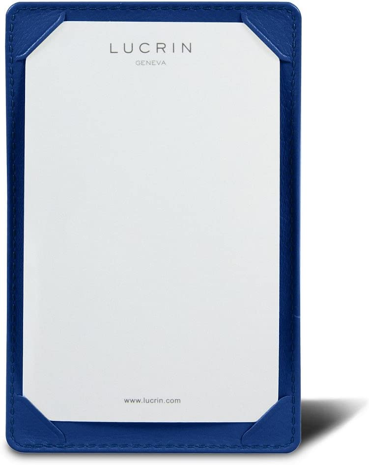 Lucrin - Pocket Note pad 5.2 3.3 Royal Regular store inches excellence Genui Blue x