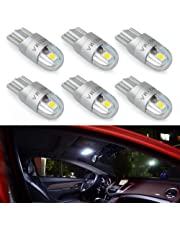 T10 LED Extremely Bright 3030 Chipset 194 168 SMD W5W Turn Signal License Plate Light Trunk Lamp Clearance Lights Reading lamp 12V T10 LED Bulbs(White-6pcs)