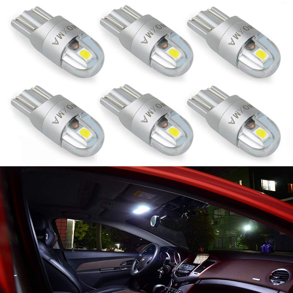 T10 LED Bulb Extremely Bright 3030 Chipset 194 168 SMD W5W LED Wedge Light 1.5W 12V License Plate Light Turn Light Signal Light Trunk Lamp Clearance Lights Reading lamp(Yellow-2pcs