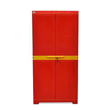 ac8ddc820ec Nilkamal Freedom Mini Medium (FMM) Plastic Storage Cabinet (Bright Red    Yellow)  Amazon.in  Home   Kitchen