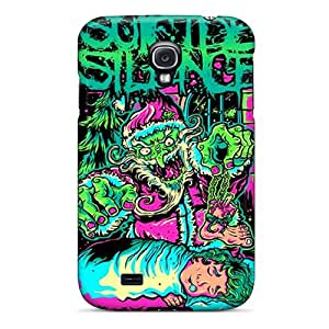 VIVIENRowland Samsung Galaxy S4 Bumper Hard Phone Cover Unique Design Realistic Suicide Silence Series [TVR4683DjES]