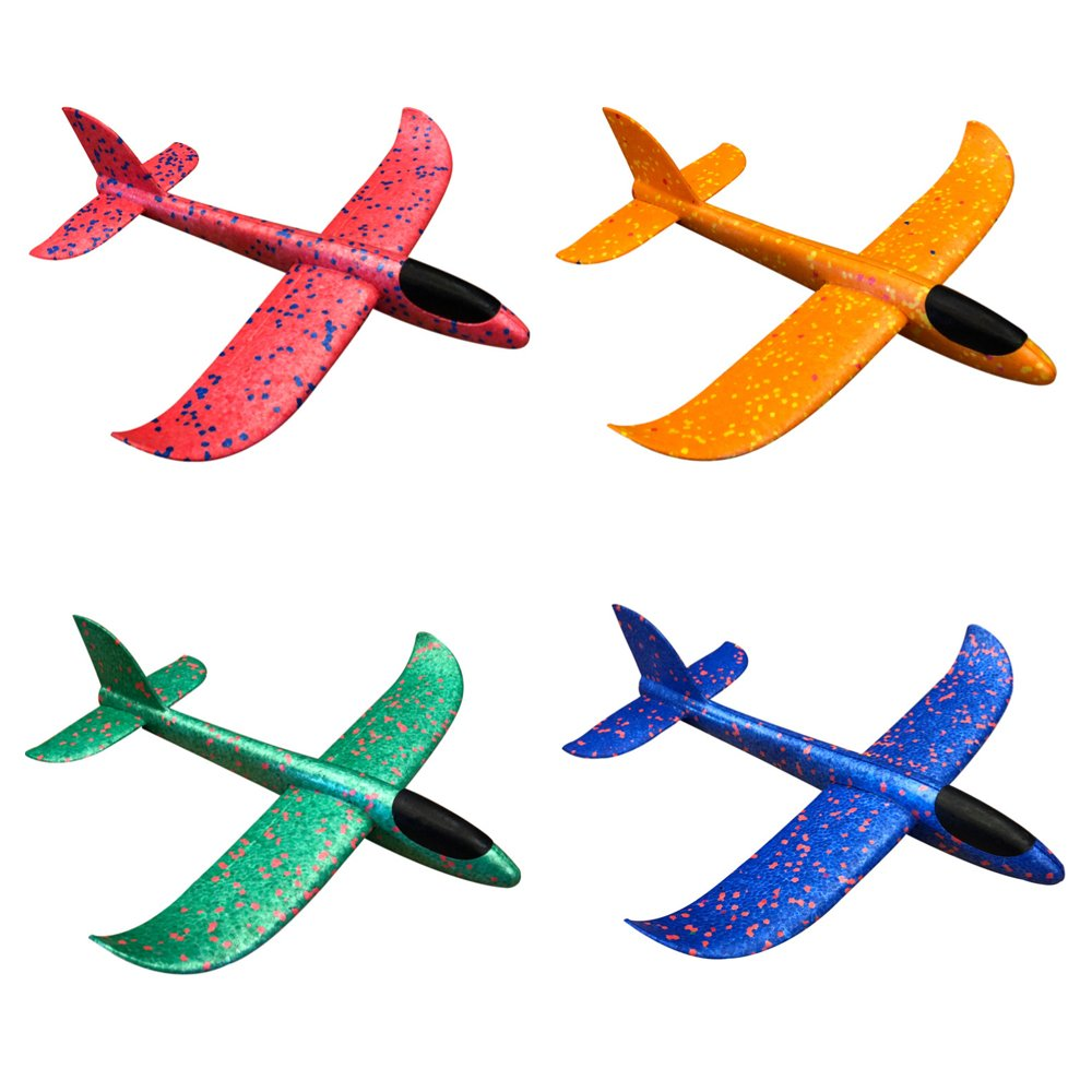 Flying Toys Foam Throwing Glider Air Plane Toy Plan Model Outdoor Sports Toy for Kids Pack of 4