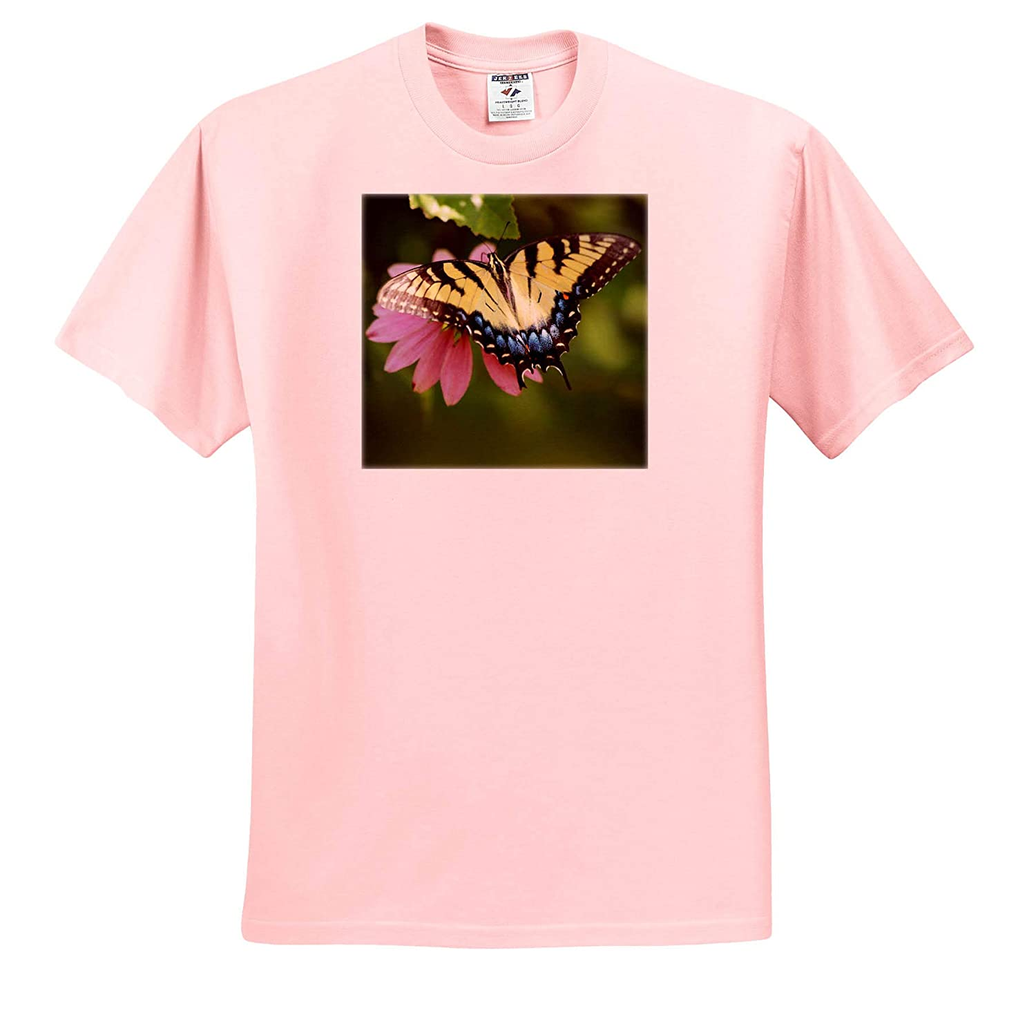 3dRose Stamp City Top View Macro Photograph of an Eastern Tiger Swallowtail - Adult T-Shirt XL Insect ts/_320187