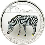 2011 TG Wildlife Protection Prism ZEBRA Wildlife Protection Silver Coin Prism 1000 Francs Togo 2011 Proof
