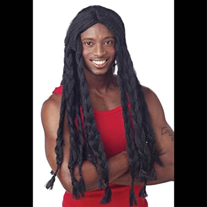 LONG Dreadlocks Jamaican BLACK BRAID RASTA WIGUnisex Halloween Costume Accessory