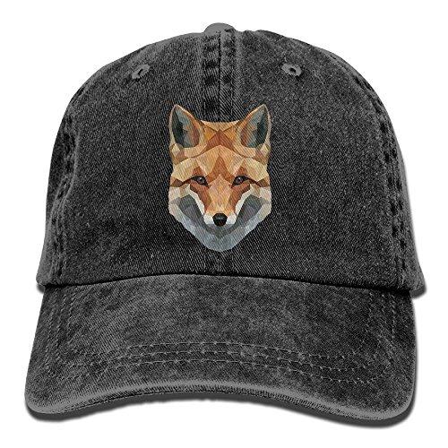 Unisex Baseball Cap Fox Head Denim Hat Adjustable Cotton Sport Strap Cap for $<!--$9.90-->