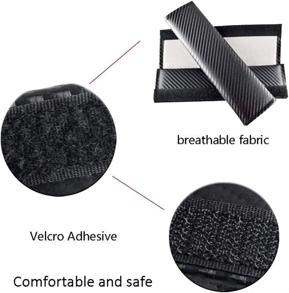 BNHHB 2 Pack Car Seat Belt Pad Cover Breathable Car Seat Belt Shoulder Strap for Adults and Children Carbon Fiber Seat Belt Cover Shoulder Pad Cushion for SsangYong