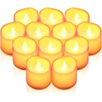 AMIR Flameless Candles, 12 PCS LED Tea Light Candles, Realistic Flickering Votive Candle Lights for Seasonal & Festival…