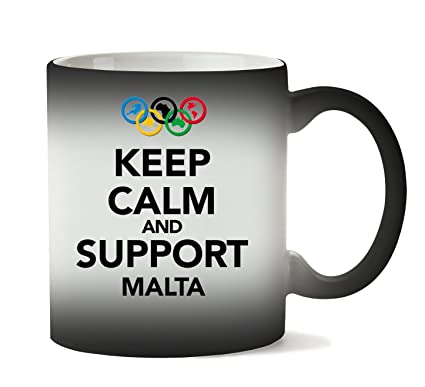 MugsWorld Keep Calm Support Malta Taza Calor Cambio De Color