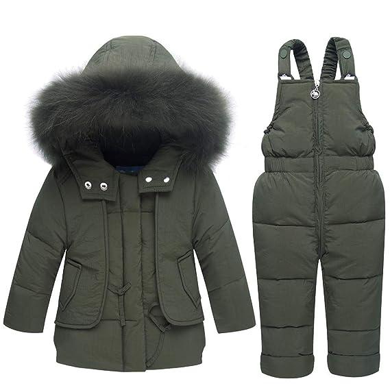 8125aaa2d0c9 FAIRYRAIN Little Kids Baby Girls Boys Two Piece Winter Warm Zipper ...