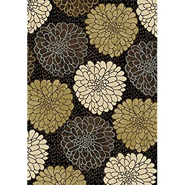 Home Dynamix HD962 Optimum Collection Modern Contemporary Area Rug, 5-Feet 2-Inch by 7-Feet 2-Inch, Black