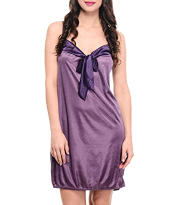 569445c8d02 Klamotten Women's Babydoll Dress (YY57_Purple_Free Size): Amazon.in ...