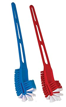 Skywalk Home Glare Double Sided Wonder Cleaning Brush Set (Random Colour) - Pack of 2