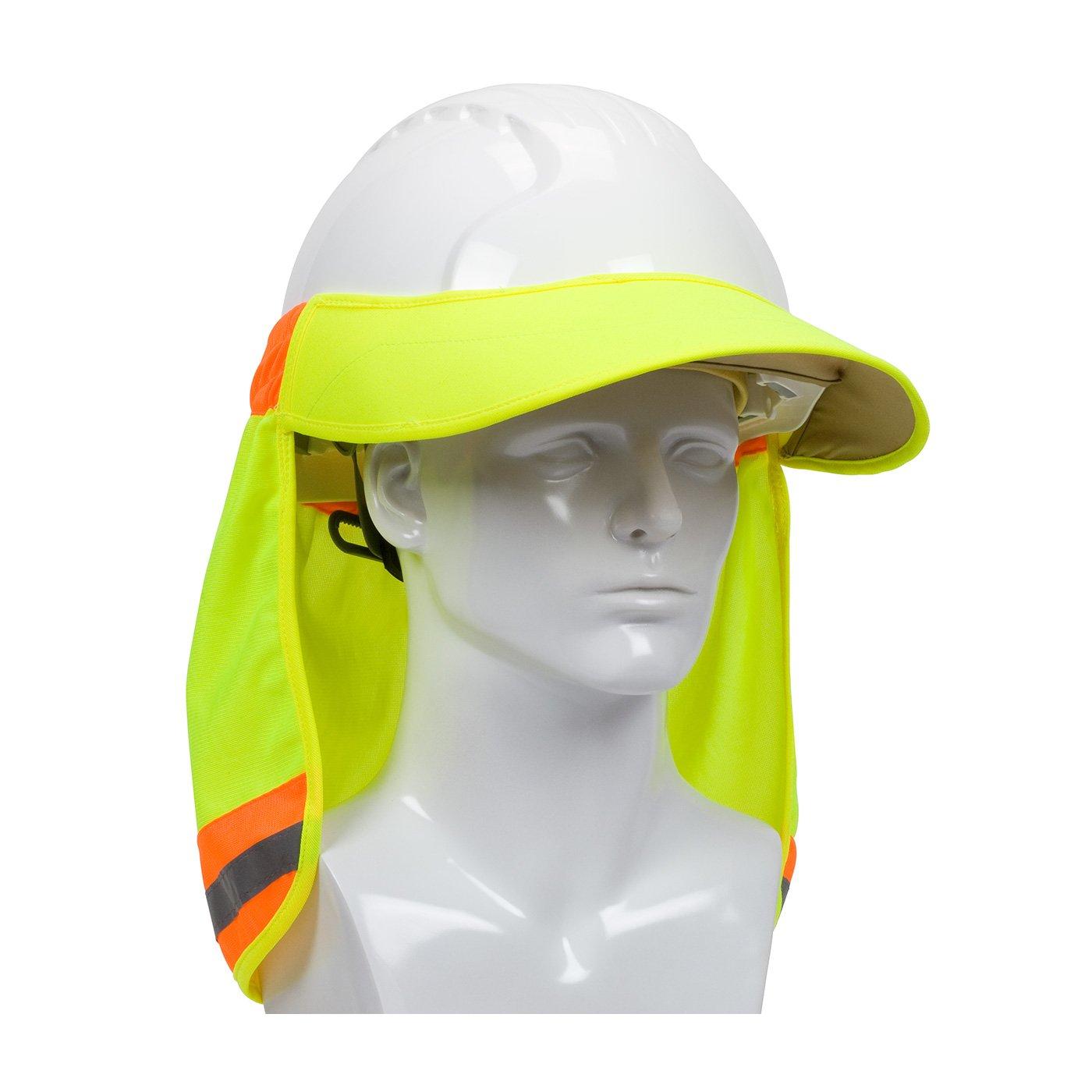 EZ-Cool 396-800-YEL Hi-Vis Hard Hat Neck Sun Shade With Visor fc4e2878ac26