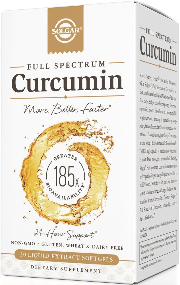 Solgar - Full Spectrum Curcumin Liquid Extract, 30 Softgels